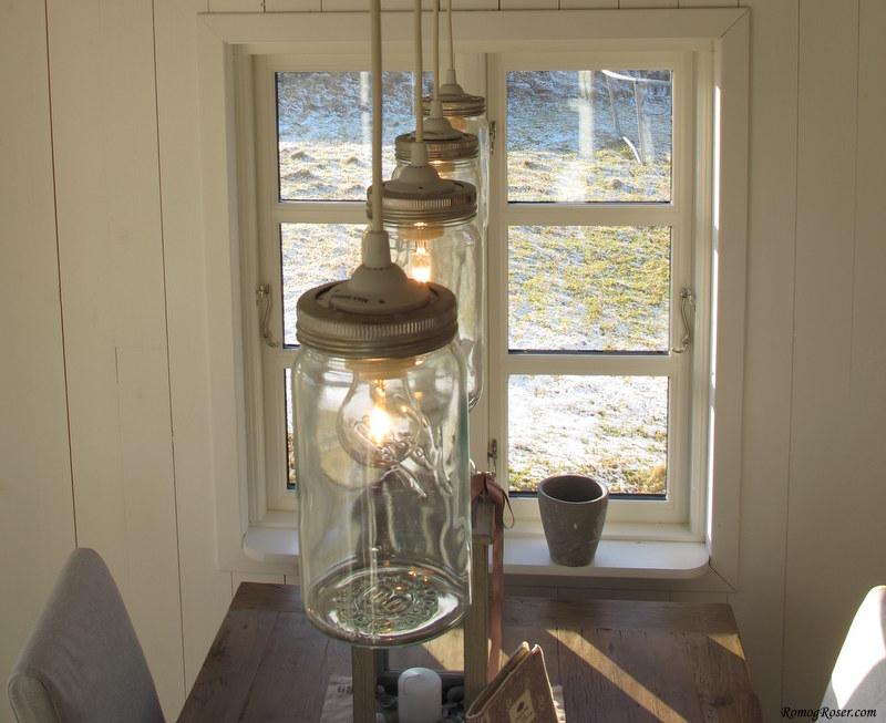 Lampe over spisebord Rom og Roser